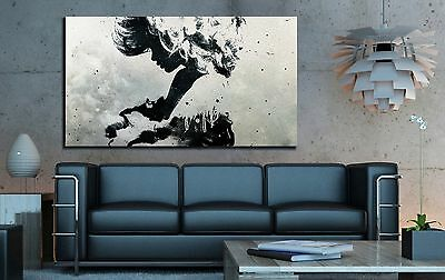 xxl leinwand bild 150x90x5 schwarz weiss modern art wandbild abstrakt ikea eur 94 99 picclick de. Black Bedroom Furniture Sets. Home Design Ideas