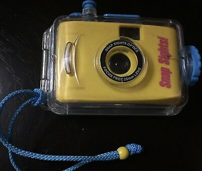 Snap Sights Underwater Camera Waterproof Case Yellow Camera Blue trim clear case