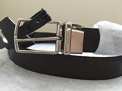 9d80490d0dbd NWT Coach Modern Harness Cut-to-Size Reversible Signature Leather Belt  F55158