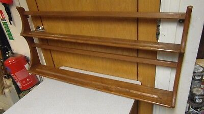 ERCOL Light Elm u0027Golden Charmu0027 Plate Rack & MID CENTURY Ercol Plate Rack Golden Dawn Elm / Beech Wood Blonde ...