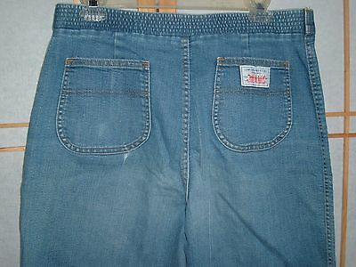vintage LEVI STRAUSS white label JEANS womens 33x30 elastic back high waist