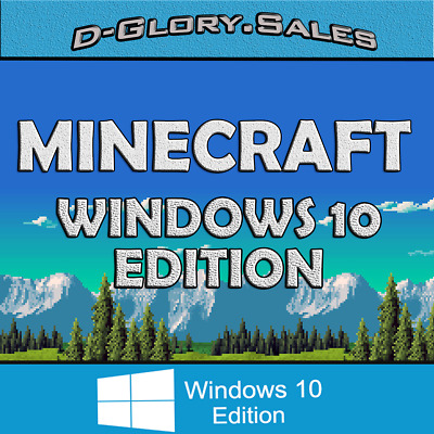 Minecraft: Windows 10 Edition (PC, FULL GAME, ACTIVATION KEY, MICROSOFT, NO BOX)
