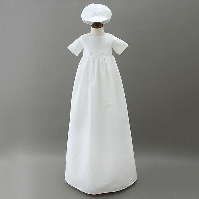 Gorgeous Embroidery Baptism Robe Gown Toddler Baby Lace Christening Long Dress