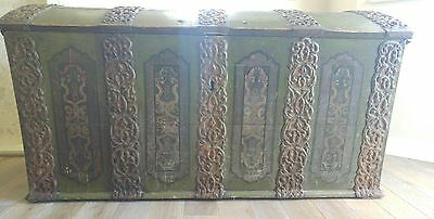 Rare original antique large c1700  Norwegian / Scandinavian chest