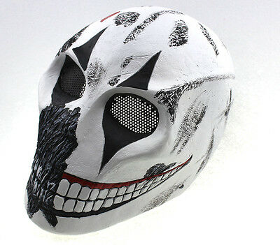 Fiber Resin Wire Mesh Eye Airsoft Paintball Full Protection Clown Skull Mask 881