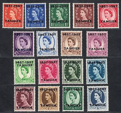 1957 British Post Offices Morocco Agencies Tangier Qeii (Sg# 323-339) Mnh Vf