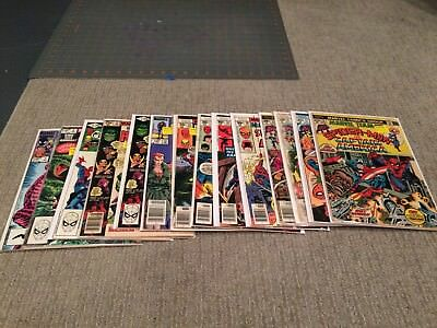 Marvel Team-Up Large Lot of 14....Spider-Man, bagged and boarded.. see pics