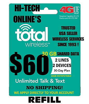 $60 Total Wireless 🔥 Fast-> Direct Phone 🔥 Get It Today! 🔥 Trusted Usa Seller