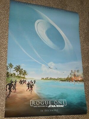 "Star Wars Rogue One ""FRENCH VER B"" vg 27x40 Original D/S Movie Poster"