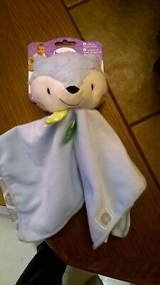 Boppy Baby First's plush Toy Finger Puppet Security Blanket Lovey Blue Fox