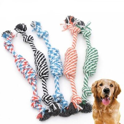 New Beauty Funny Small Puppy Dog Pet Toy Cotton Braided Bone Rope Chew Knot Toys