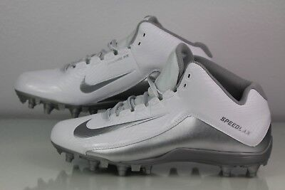 Nike Speedlax 5 Lacrosse Cleats - Men's Size 10 - White and Silver