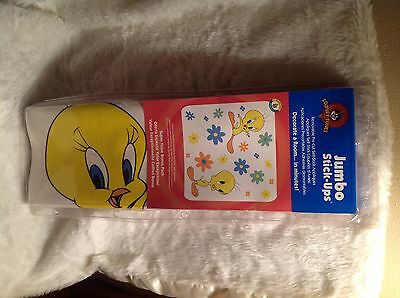 New in box Jumbo Tweety Bird stick ups removable pre cut self stick appliqués