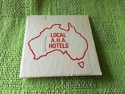 """Collectable drink coaster-""""LOCAL AHA HOTELS"""" - GOOD CONDITION"""