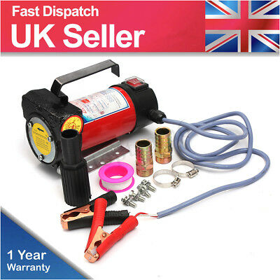 Portable 12V 175W Car Fuel Diesel Fluid Extractor Electric Transfer Pump 50L/min