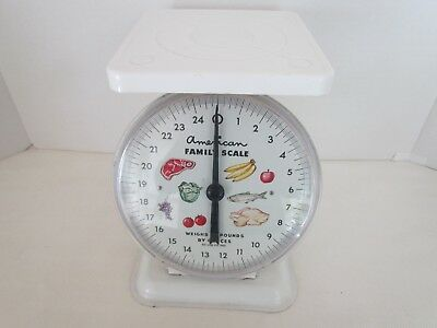 Vintage American Family 25 Lb Scale  White Excellent