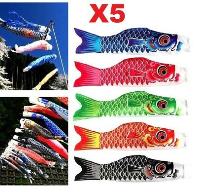 X5 Colors Japanese Koinobori Carp Wind Sock Anime Fish Flag Windsock Koi Gift