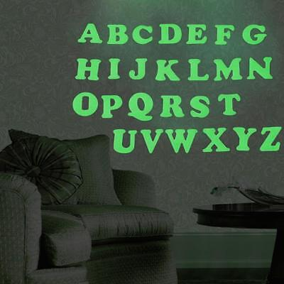 DIY Letter Fluorescent Wall Sticker Luminous Glow In The Dark Background Decal