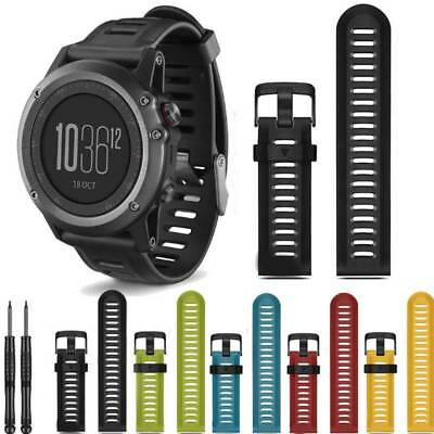 Soft Silicone Watch Band Wrist Based Strap For Garmin Fenix 3 HR With Tools