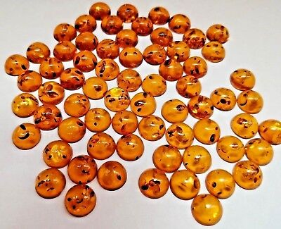 Genuine Natural Rich Golden Baltic Amber Oval Cabochon Loose Stone 6x4-25x18mm