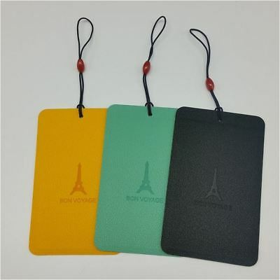 5X PU Colorful Travel Luggage Tag ID Name Case Card Holder Bag Suitcase Label