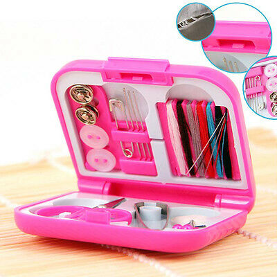 Portable Cute Travel Sewing Kits Box Needle Threads Travel Use Sewing Tools