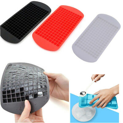 160 Grids Mini Small Ice Cube Tray Frozen Cubes Trays Silicone Ice Mold Tool