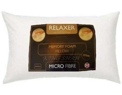 Memory Foam Pillow Relaxer Classic With Micro Fibre Free P&p !!!