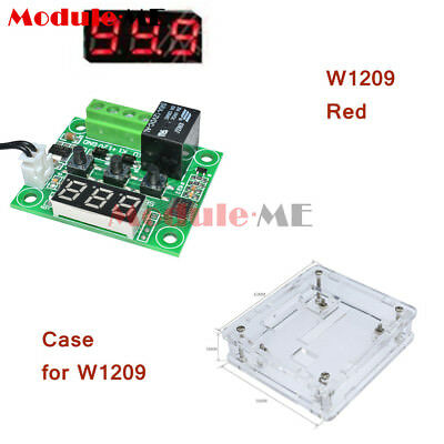 W1209 DC 12V Thermostat Temperature Control Switch Regulator Thermometer & Case