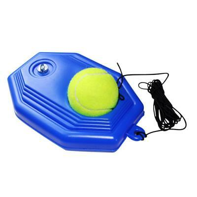 Tennis Ball Back Base Trainer Set Rubber Band for Single Training Practice NEW^
