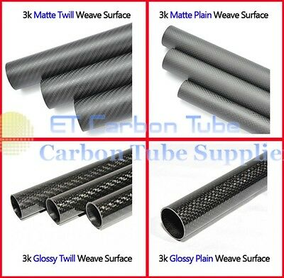 3k OD 16mm Carbon Fiber Tube  ID 12mm /ID13mm/ ID 14mm/ ID 15mm Roll wrapped