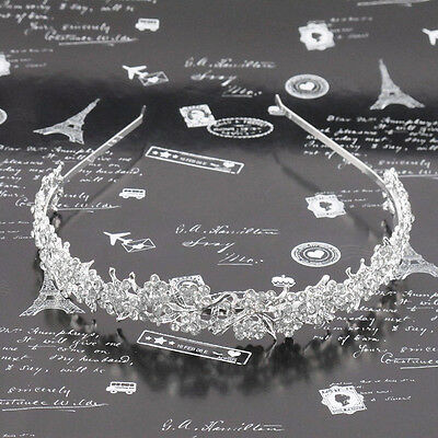 Wedding Crystal Flower Headband Hairband- Bride Bridesmaid Bridal Prom Tiara^