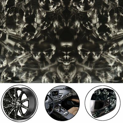 UK Fantastic Black Skulls Hydrographic Hydro Water Transfer Dipping Film