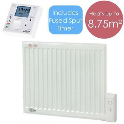 APO 700W Oil Filled Electric Radiator Wall Mounted / Portable Heater + Timer FST
