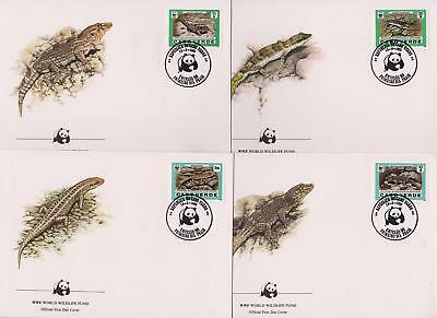 Cape Verde 1986 WWF - Endangered Reptiles - 4 First Day Covers - (64)
