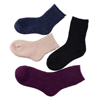 5Pairs Toddlers Kids Wool Socks Baby Girls Warm Winter Socks Soft  Socks