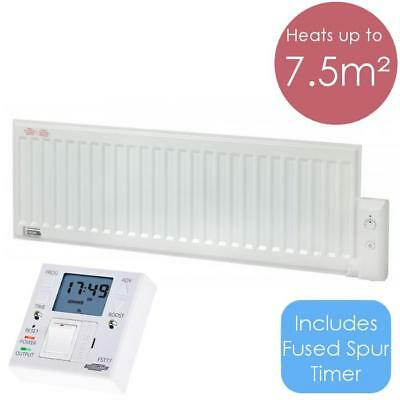 ALO 600W Oil Filled Electric Radiator Wall Mounted / Portable Heater + Timer FST