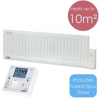 ALO 800W Oil Filled Electric Radiator Wall Mounted / Portable Heater + Timer FST