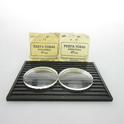 2x Perfa Toral Ø 47mm  | sph. -3,50 | cyl. -1,25 | spectacle lens / Linsen