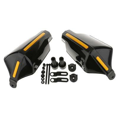 2x Universal Motorcycle Scooter Hand Guards Handguard for 7/8 Bar Black