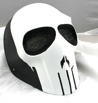 Fiber Resin Mesh Eye Airsoft Paintball Full Face Protection Skull Halloween Mask
