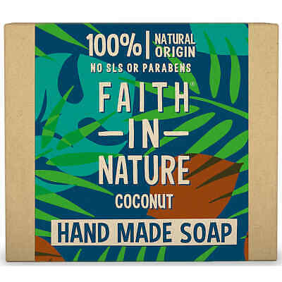 Faith In Nature 100g X1 X6 Hand Made Soap Organic All