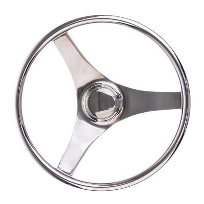 Boat Stainless Steel 13.4'' 340mm Steering Wheel 3 Spoke Marine Yacht