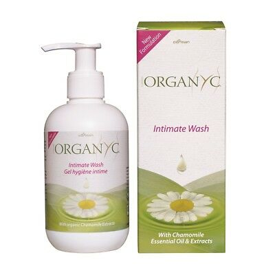 Organyc lavage intime NEUF Formulation 250ml - avec CAMOMILLE HUILE ESSENTIELLE