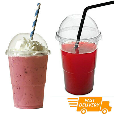 Smoothie Cups & Lids SOLO (10oz,12oz,16oz,20oz) Disposable for Smoothies Juice