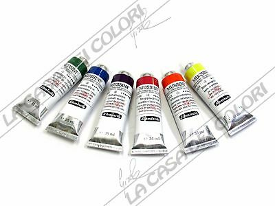 SCHMINCKE MUSSINI - 35 ml - COLORI DA 510 A 866 - RESIN OIL COLOUR