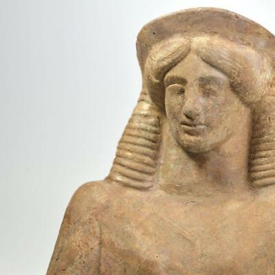 A Greek Terracotta Protome of Demeter, ca. 5th century BC