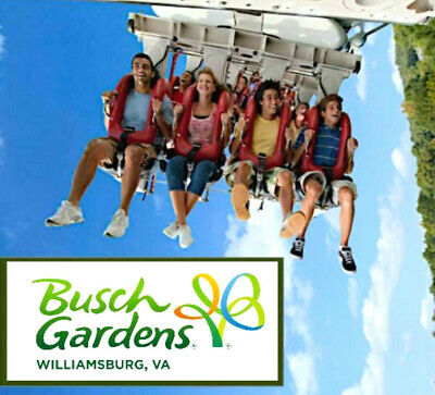 Busch Gardens Williamsburg Virginia Tickets $64  A Promo Discount Tool