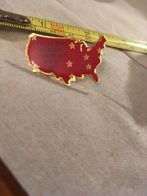 Vtg Lapel pin/Tie Tack: collecting across America Tour 1995