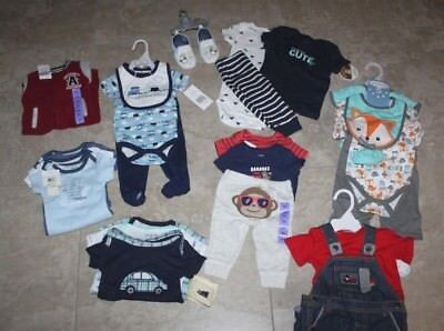 30 Piece Lot Of Baby Boy Clothes -All Nwt-0 To 12 Months  Calvin Klein, Carters
